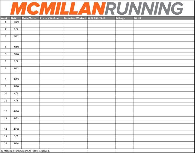 MCMILLAN'S SIX-STEP TRAINING SYSTEM - McMillan Running